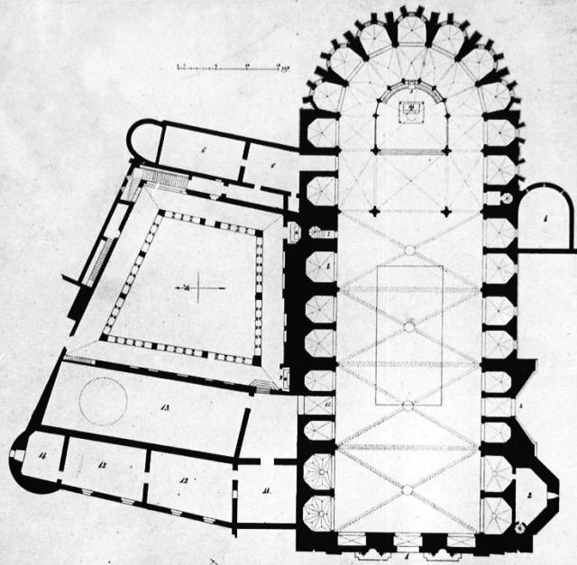 Planta de la catedral de Gerona. Placa núm. 1028. Ateneo de Madrid.